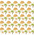 egypt seamless pattern tourism travel endless vector image