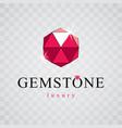 elegant sparkling gem luxury diamond sign emblem vector image vector image