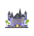fairytale blue stone castle on vector image vector image