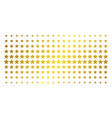 five pointed star golden halftone effect vector image vector image