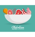 Food icon set Nutrition and Organic design vector image vector image