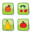 fruit sticker color vector image