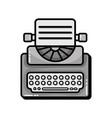 grayscale retro typewriter equipment with business vector image