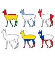 Guanaco flags vector image vector image