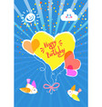 happy birthday holiday card best regards wishes vector image vector image