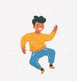 happy boy jump vector image vector image