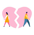 heartbroken sad young man guy and woman girl vector image vector image