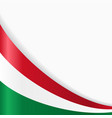 hungarian flag background vector image vector image