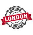 london round ribbon seal vector image vector image
