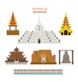 mandalay myanmar architecture building landmarks vector image vector image