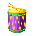 mardi gras carnival drum vector image
