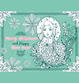 merry christmas and happy new year 2019 horizontal vector image vector image