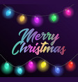 merry christmas colorful text title with beautiful vector image vector image