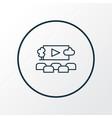 open air cinema icon line symbol premium quality vector image vector image