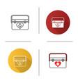 organ transplant case icon vector image vector image