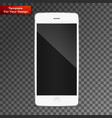 perfectly detailed modern smart phone vector image