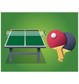 ping pong table boards vector image