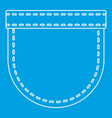 pocket symbol icon outline style vector image vector image