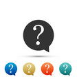 question mark in circle icon on white background vector image vector image