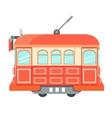 Red vintage tram vector image