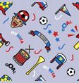 russia soccer supporter gear seamless pattern vector image vector image
