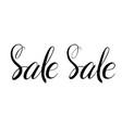 sale handwritten text brush pen lettering vector image vector image