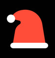 santa hat merry christmas icon set flat design vector image vector image