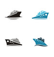 sea ship logo vector image vector image