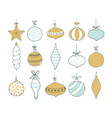 set of christmas tree toys vector image vector image