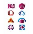 Set of letter U logo Branding Identity Corporate v vector image vector image
