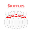 skittles cartoon sport equipment concept vector image