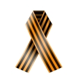 St George ribbon on a white background vector image