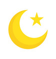 star and crescent ramadan related flat icon vector image vector image