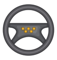 Steering wheel of taxi icon cartoon style vector image vector image