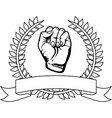 symbol hand breast cancer defense vector image