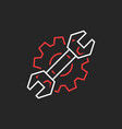 thin line wrench and gear like repair service logo vector image
