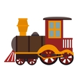 train kid toy icon vector image vector image