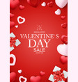 valentines day background card templates holiday vector image