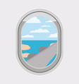 window airplane travel view vector image vector image