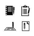 writing edit write simple related icons vector image vector image