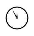 clock black icon vector image