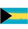 Grunge Flag of Bahamas Isolated vector image