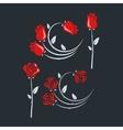set of rose flowers design background vector image