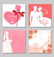 wedding card set vector image