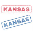 kansas textile stamps vector image