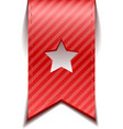 red bookmarks with star isolated vector image