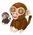Handmade soft toy monkey animal vector image