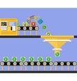 Start Up concept Money making conveyor vector image