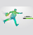 abstract silhouette a running businessman man vector image vector image