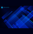 abstract technology concept blue geometric vector image vector image
